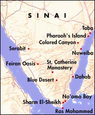 Map of Mt. Sinai Egypt